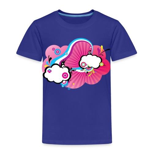Tee-Shirt Enfant B&C orange Pink Pop Clouds - T-shirt Premium Enfant