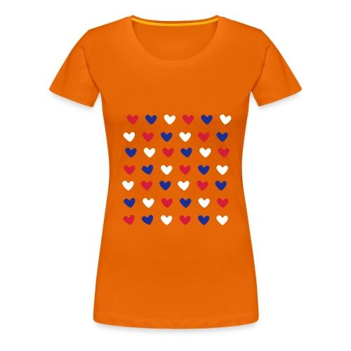 Dutch Hearts - Vrouwen Premium T-shirt