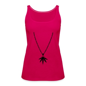 New Budget string necklace - PINK - Women's Premium Tank Top