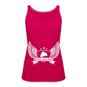 Womens BORN RIDER vest top - Women's Premium Tank Top
