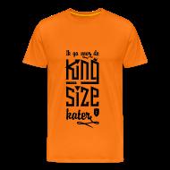 T-shirts ~ Mannen Premium T-shirt ~ King size Kater