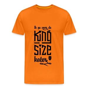 King size Kater - Mannen Premium T-shirt