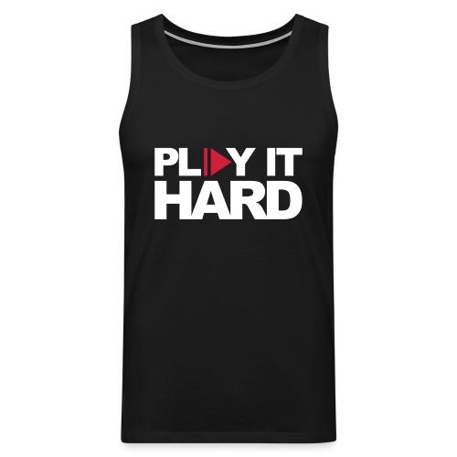 Play it hard Muskelshirt schwarz/weiß - Männer Premium Tank Top
