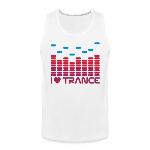 I love Trance Muskelshirt - Männer Premium Tank Top