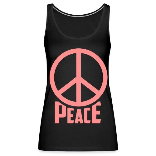 Peace top black & pink - Vrouwen Premium tank top