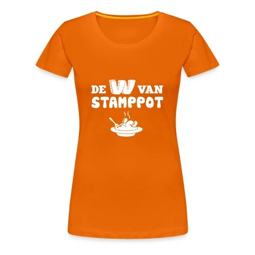 De W van Stamppot - Vrouwen Premium T-shirt