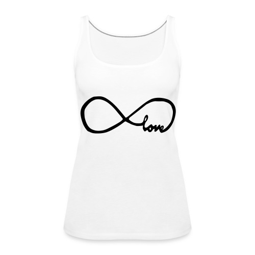hempje met infinity teken (love) - Vrouwen Premium tank top