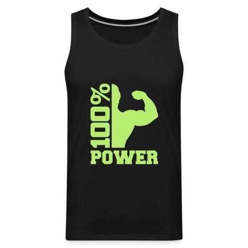 100% POWER - Premiumtanktopp herr