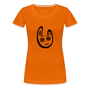 Orange trance Bunny T-shirt - Women's Premium T-Shirt