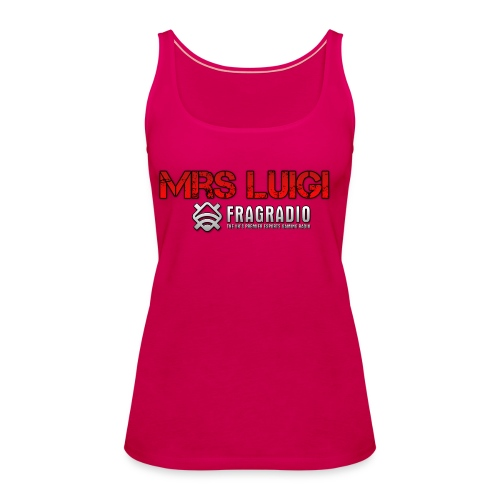 Pink Tank Top (Mrs Luigi) - Women's Premium Tank Top