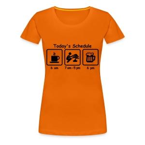 T-Shirt Femme Picto Today's Schedule  - T-shirt Premium Femme
