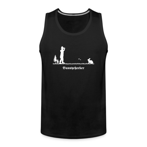 fun tier t-shirt bunnychecker bunny checker hase jäger bayern party - Männer Premium Tank Top