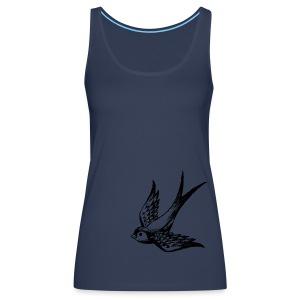 tier t-shirt schwalbe swallow vogel bird wings flügel retro - Frauen Premium Tank Top