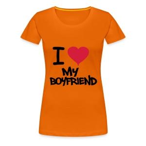 I love my boyfriend girls T-Shirt - Women's Premium T-Shirt