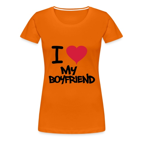 I love my boyfriend girls T-Shirt - Women's Premium T-Shirt