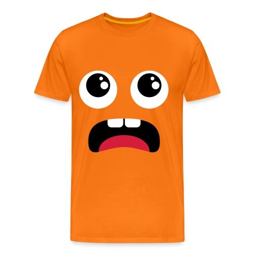 Faccia t-shirt arancione - Maglietta Premium da uomo
