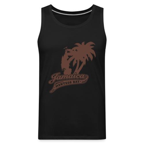 olivfarbenes Muskel - Shirt Jamaica Montego Bay - Männer Premium Tank Top