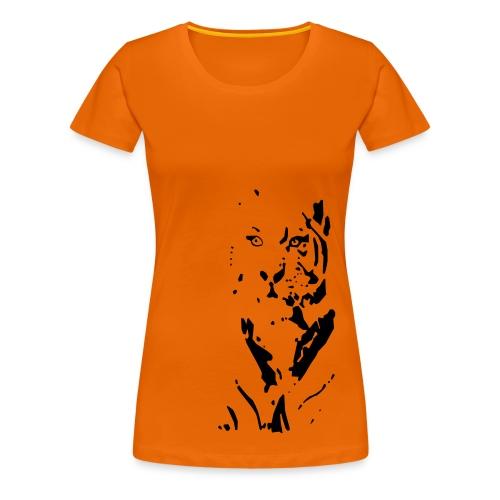 Tiger focusing on its prey - Women's Premium T-Shirt