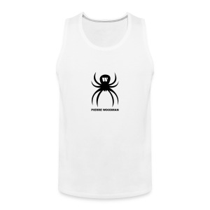 Black PW-Spider, Men's Tank Top, white, F/B - Men's Premium Tank Top