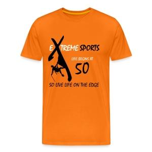 Extreme Sports t-shirt - Life begins at 50 - Men's Premium T-Shirt