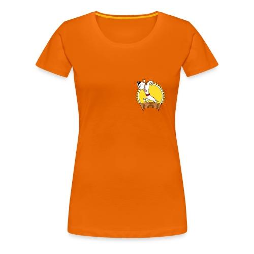 Flotte Pfoten Damen-T-Shirt mit Maskottchen - Frauen Premium T-Shirt