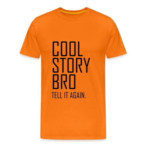 Cool story bro tshirtneonyellow - Männer Premium T-Shirt