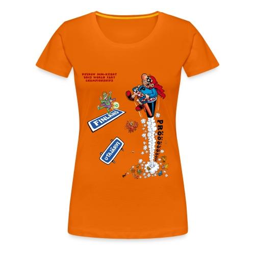 2013 World Fart Championships t-paita naisille, vapaavalintainen väri - Naisten premium t-paita