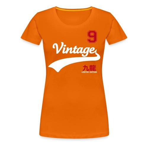 motif vintage, tshirt femme, orange - T-shirt Premium Femme