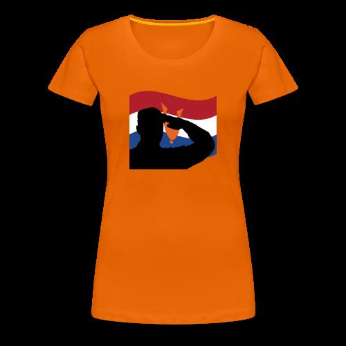Salute Dutch Veterans - Vrouwen Premium T-shirt