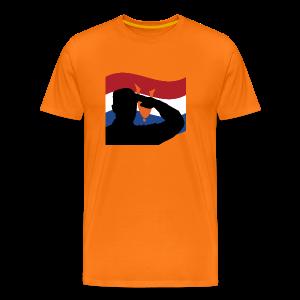 Salute Dutch Veterans - Mannen Premium T-shirt