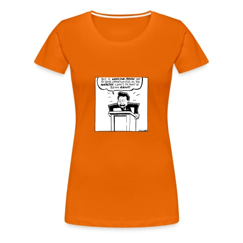 The Point of Being Rich - Women's Premium T-Shirt