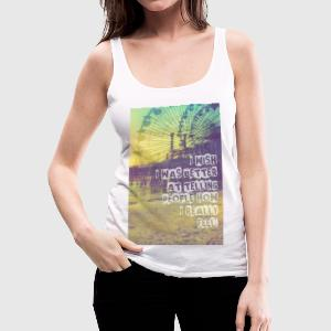 _I wish,Hipster T-Shirts,Moustache,Triangle,Hipsta Tops - Frauen Premium Tank Top