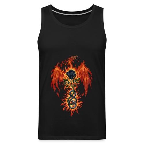 Flaming Dragon Vest Top - Men's Premium Tank Top