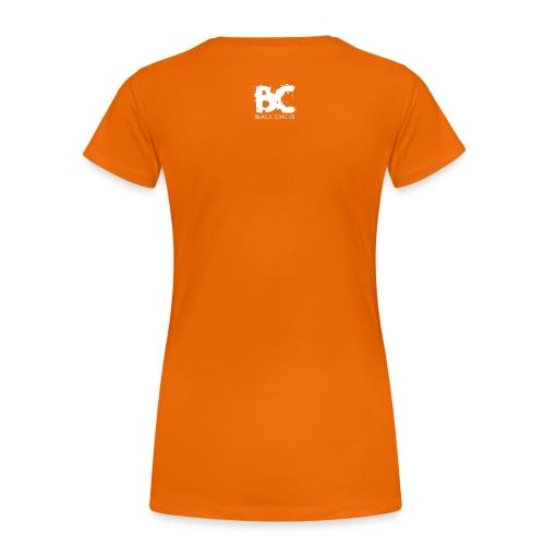 HEFTIGER MODUS-Shirt Girly green, BC-Logo back white - Frauen Premium T-Shirt