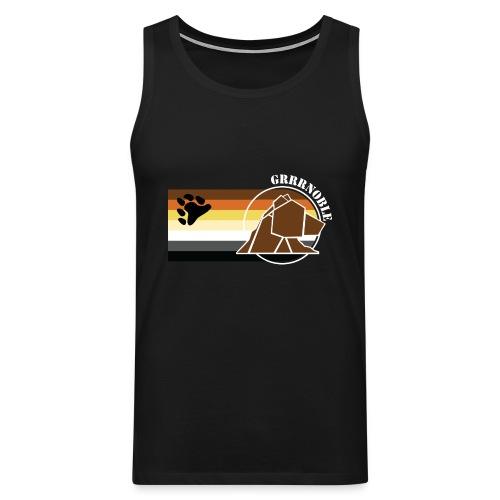 T-shirt sans manche GRRRNOBLE BEAR ASSOCIATION logo et patte d'ours - Débardeur Premium Homme