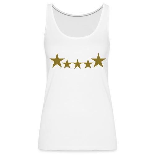 5 star ladies vest - Women's Premium Tank Top
