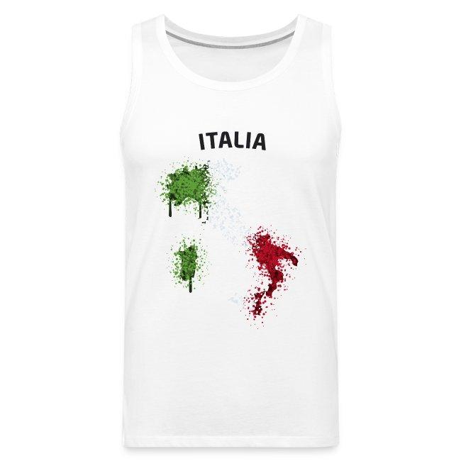 Herren Fußball Fan Muskelshirt Italia Graffiti