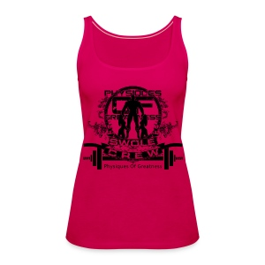 WOMENS Swole Crew Black Tank - Women's Premium Tank Top