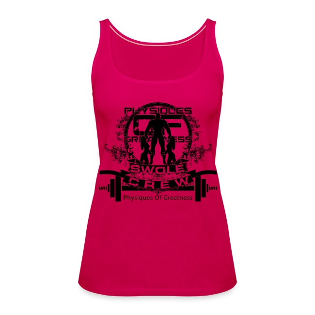 WOMENS Swole Crew Black Tank