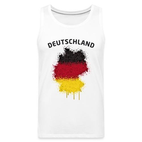 Herren Fußball Fan Muskelshirt Deutschland Graffiti - Männer Premium Tank Top