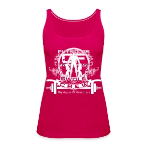 WOMENS Swole Crew White Tank - Women's Premium Tank Top