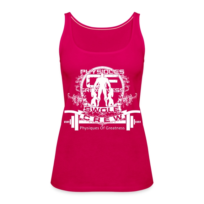 WOMENS Swole Crew White Tank