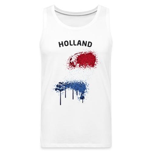 Herren Fußball Fan Muskelshirt Holland Graffiti - Männer Premium Tank Top