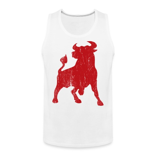 Viva El Toro. Bloodred Bull Tank - Men's Premium Tank Top