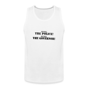Call the police - Logo negro - Sin Mangas - Tank top premium hombre