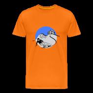 T-Shirts ~ Männer Premium T-Shirt ~ sga skiing blau