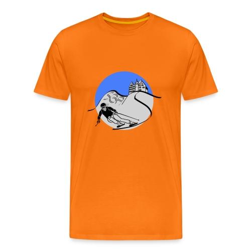 sga skiing blau - Männer Premium T-Shirt