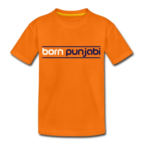 Orange Kid's Born Punjabi - Kids' Premium T-Shirt