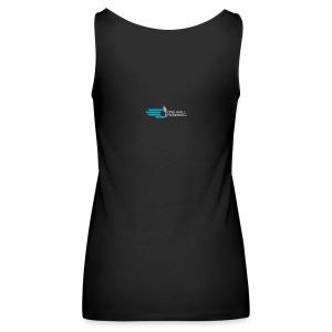 Dames Tanktop met Logo One Wall Handball -zwart - Vrouwen Premium tank top