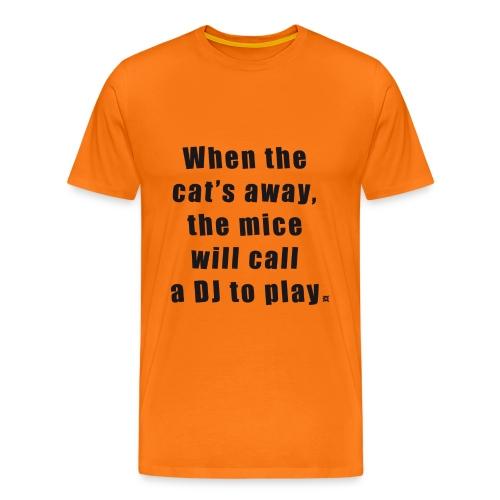Cat TS Man Black EN - Men's Premium T-Shirt